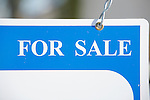 Blue and White For Sale Sign