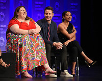 """HOLLYWOOD, CA - MARCH 24: Chrissy Metz, Justin Hartley, and Melanie Liburd attend PaleyFest 2019 for 20th Century Fox Television's """"This is Us"""" at the Dolby Theatre on March 24, 2019 in Hollywood, California. (Photo by Frank Micelotta/20th Century Fox Television/PictureGroup)"""