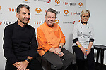 Spanish chefs Paco Roncero (L), Alberto Chicote (C) and Susi Diaz (R)  attends 'Top Chef' new season presentation in Madrid , Spain. February 14, 2017. (ALTERPHOTOS/Rodrigo Jimenez)