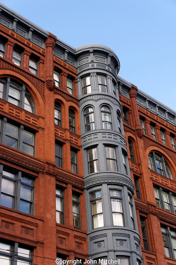 Victorian era Pioneer Building in the Pioneer Square historical district, Seattle