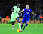 Leicester's Danny Drinkwater tussles with Manchester City's Yaya Toure<br /> <br /> Barclays Premier League- Leicester City vs Manchester City - King Power Stadium - England - 29th December 2015 - Picture - David Klein/Sportimage