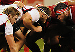 August 13, 2011:  Rugby action during the pre World Cup test match between Canada and USA's national teams at Infinity Park, Glendale, Colorado.  Canada defeated USA 27-7.     .. ...