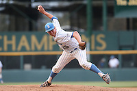 David Berg (26) of the UCLA Bruins pitches during a game against the Arizona Wildcats at Jackie Robinson Stadium on May 16, 2015 in Los Angeles, California. UCLA defeated Arizona, 6-0. (Larry Goren/Four Seam Images)
