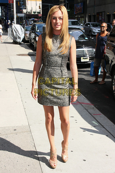 Cat Deeley at the Ed Sullivan Theater for an appearance on the 'Late Show with David Letterman', New York, NY, USA..August 2nd, 2011.full length grey gray dress sleeveless.CAP/LNC/TOM.©LNC/Capital Pictures.