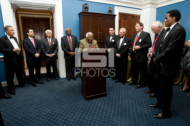 James Clyburn, Desmond Tutu, Dr. Klaus Schiaroth, Ed Foster-Simeon. The 2010 US Soccer Foundation Gala was held at City Center in Washington, DC.