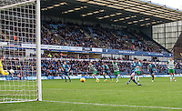 Joe Jacobson of Wycombe Wanderers scores a goal from the penalty spot during the Sky Bet League 2 match between Wycombe Wanderers and Yeovil Town at Adams Park, High Wycombe, England on 14 January 2017. Photo by Andy Rowland / PRiME Media Images.