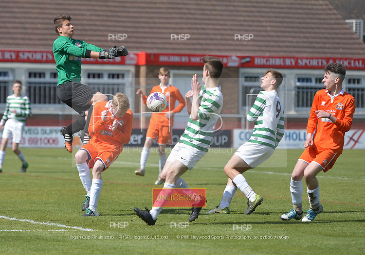 """15/05/2016 Hogan Cup Final 2016 U-16's AFC Blackpool v Foxhall<br /> To order a print click on """"Add to Cart"""" Size and pricing options will be displayed"""