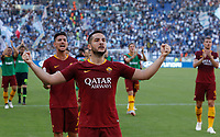 Roma's Kostas Manolas greets fans at the end of the Italian Serie A football match between Roma and Lazio at Rome's Olympic stadium, September 29, 2018. Roma won 3-1.<br /> UPDATE IMAGES PRESS/Riccardo De Luca