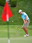 Ryan Walsh of the Forest Hills Country Club chips onto the green on the first day of the Metropolitan Amateur Golf Association's 20th Junior Amateur Championship being held at the St. Clair Country Club in Belleville, IL on July 1, 2019. <br /> Tim Vizer/Special to STLhighschoolsports.com