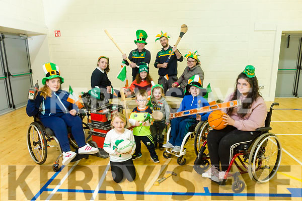 Kingdom Wheelblasters working on their float ahead of the St Patrick's Day Parade which the theme is Sports Inclusion. Pictured at the John Mitchels Sports Complex on Tuesday were front l-r Leah Hickey, Clodagh Houlihan, Jack Houlihan, Oran Buckley, Dean McCarthy Sorcha Murphy. Back l-r Tadhg Buckley, Katelyn Murphy, Niamh Buckley, Lisa Hickey and Paul Murphy