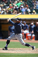 OAKLAND, CA - JULY 19:  Brad Miller #13 of the Tampa Bay Rays bats against the Oakland Athletics during the game at the Oakland Coliseum on Wednesday, July 19, 2017 in Oakland, California. (Photo by Brad Mangin)