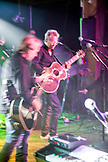USA, Colorado, Aspen, Gerry Beckley and Dewey Bunnell of the band America jam and play music at Belly Up in downtown Aspen