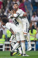 of Real Madrid during the match between Real Madrid v Cd Leganes of LaLiga, 2018-2019 season, date 3. Santiago Bernabeu Stadium. Madrid, Spain - 1 September 2018. Mandatory credit: Ana Marcos / PRESSINPHOTO