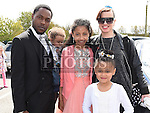 Aliyah Olaitan who was confirmed in the Holy Family church Ballsgrove pictured with her family. Photo:Colin Bell/pressphotos.ie