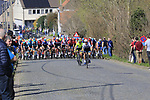 The breakaway group forms on Beaucarnestraat during the 2019 E3 Harelbeke Binck Bank Classic 2019 running 203.9km from Harelbeke to Harelbeke, Belgium. 29th March 2019.<br /> Picture: Eoin Clarke | Cyclefile<br /> <br /> All photos usage must carry mandatory copyright credit (© Cyclefile | Eoin Clarke)