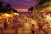 Dining and booths at the Maunalani Hotel Food Festival, Big Island