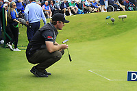 Eddie Pepperell (ENG) on the 18th green during Sunday's Final Round of the Dubai Duty Free Irish Open 2019, held at Lahinch Golf Club, Lahinch, Ireland. 7th July 2019.<br /> Picture: Eoin Clarke | Golffile<br /> <br /> <br /> All photos usage must carry mandatory copyright credit (© Golffile | Eoin Clarke)