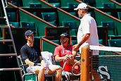 May 25th Roland Garros, paris, France; French Open tennis championships; Ivan Lendl practises with Andy Murray;  Andy Murray (GBR) with Ivan Lendl