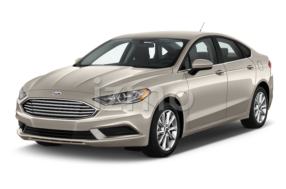 2017 Ford Fusion SE-FWD 4 Door Sedan Angular Front stock photos of front three quarter view