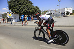 Fabio Aru (ITA) UAE Team Emirates recons the course before Stage 1 of the La Vuelta 2018, an individual time trial of 8km running around Malaga city centre, Spain. 25th August 2018.<br /> Picture: Eoin Clarke | Cyclefile<br /> <br /> <br /> All photos usage must carry mandatory copyright credit (© Cyclefile | Eoin Clarke)