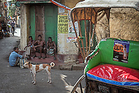 Classic life in the streets of Kolkata, West Bengal, India