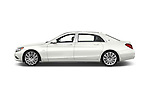Car Driver side profile view of a2016 Mercedes Benz S Class May Bach 4 Door Sedan Side View
