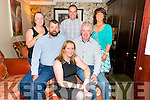 Mary O'Mahony Foley (centre) and James O'Sullivan (front left) from Kenmare celebrated their 40th birthday with Tim Foley, Lorraine O'Sullivan, Anthony O'Connor and Nora Ann O'Connor in the Lord Kenmare Restaurant, Killarney last Saturday night.