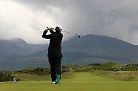 Emily Toy (ENG) on the 4th tee during the Matchplay Final of the Women's Amateur Championship at Royal County Down Golf Club in Newcastle Co. Down on Saturday 15th June 2019.<br /> Picture:  Thos Caffrey / www.golffile.ie<br /> <br /> All photos usage must carry mandatory copyright credit (© Golffile | Thos Caffrey)
