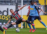 Filip Kostic (Eintracht Frankfurt), Breel Embolo (Borussia Moenchengladbach)<br />  - 16.05.2020, Fussball 1.Bundesliga, 26.Spieltag, Eintracht Frankfurt  - Borussia Moenchengladbach emspor, v.l. Stadionansicht / Ansicht / Arena / Stadion / Innenraum / Innen / Innenansicht / Videowall<br /> <br /> <br /> Foto: Jan Huebner/Pool VIA Marc Schüler/Sportpics.de<br /> <br /> Nur für journalistische Zwecke. Only for editorial use. (DFL/DFB REGULATIONS PROHIBIT ANY USE OF PHOTOGRAPHS as IMAGE SEQUENCES and/or QUASI-VIDEO)