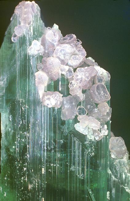 Lepidolite on Elbaite, Newry, Oxford, Maine