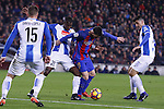 18.12.2016 Leo Messi in action during game between FC Barcelona against RCD Espanyol at Camp Nou. La liga day 16