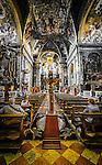 "The interior of the Church of Santa Maria di Nazareth also known as the ""Church of the Scalzi"" in the sestiere of Cannaregio in Venice, Italy."