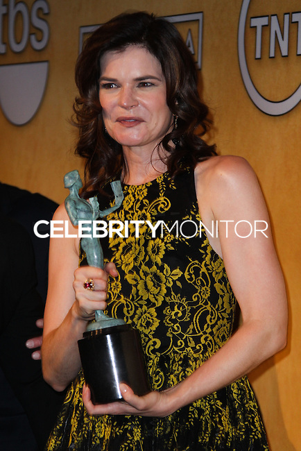 LOS ANGELES, CA - JANUARY 18: Betsy Brandt in the press room at the 20th Annual Screen Actors Guild Awards held at The Shrine Auditorium on January 18, 2014 in Los Angeles, California. (Photo by Xavier Collin/Celebrity Monitor)