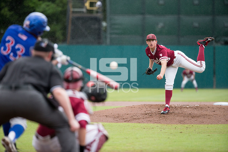STANFORD, CA - March 20, 2016:  Stanford plays Kansas at Sunken Diamond. Stanford won 6-2.