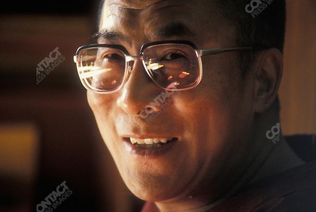 The 14th Dalai Lama, Tenzin Gyatso. Dharamsala, India, December 1987.