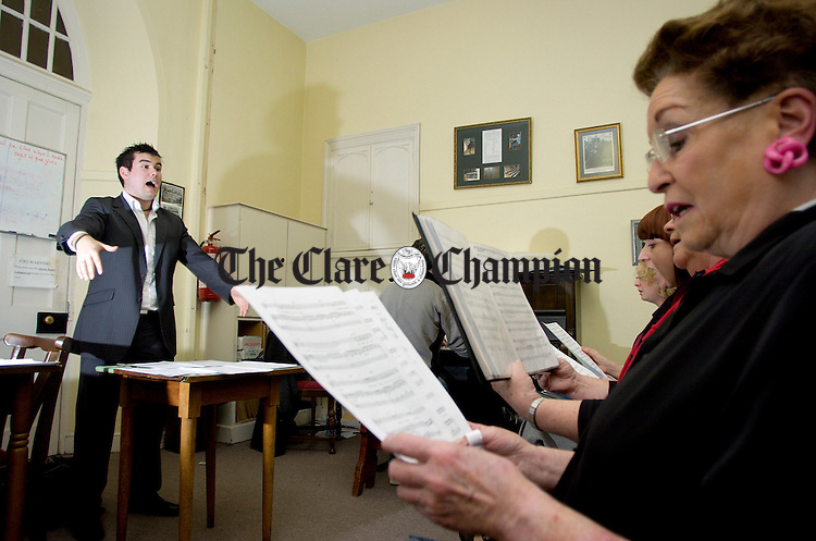 Leon Walsh Conductor and Choral Director of Ennis Cathedral Choir during rehearsals.Pic Arthur Ellis.