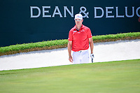 Zach Johnson (USA) lines up his sand shot on 9 during round 2 of the Dean &amp; Deluca Invitational, at The Colonial, Ft. Worth, Texas, USA. 5/26/2017.<br /> Picture: Golffile | Ken Murray<br /> <br /> <br /> All photo usage must carry mandatory copyright credit (&copy; Golffile | Ken Murray)