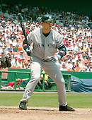 Washington, D.C. - June 18, 2006 -- New York Yankees third baseman Alex Rodriguez (13) watches a foul ball in the second inning against the Washington Nationals at RFK Stadium in Washington, D.C. on June 18, 2006.<br /> Credit: Ron Sachs / CNP