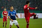 19.12.2017, Veltins-Arena , Gelsenkirchen, GER, DFB Pokal Achtelfinale, FC Schalke 04 vs 1. FC K&ouml;ln<br /> , <br /> <br /> im Bild | pictures shows:<br /> Jorge Mere (1.FC Koeln #22) kl&auml;rt vor Franco Di Santo (FC Schalke 04 #9), <br /> <br /> Foto &copy; nordphoto / Rauch