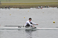 069 PangbourneColl J17A.1x..Marlow Regatta Committee Thames Valley Trial Head. 1900m at Dorney Lake/Eton College Rowing Centre, Dorney, Buckinghamshire. Sunday 29 January 2012. Run over three divisions.