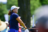 Mirim Lee (KOR) watches her tee shot on 18 during Saturday's round 3 of the 2017 KPMG Women's PGA Championship, at Olympia Fields Country Club, Olympia Fields, Illinois. 7/1/2017.<br /> Picture: Golffile | Ken Murray<br /> <br /> <br /> All photo usage must carry mandatory copyright credit (&copy; Golffile | Ken Murray)