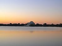 Jefferson Memorial, Washington, D.C. at dawn.