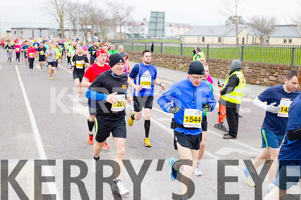 Sean Kenny, 1260, George Treacy, 1544 and John McGillycuddy, 1329 who took part in the 2015 Kerry's Eye Tralee International Marathon Tralee on Sunday.