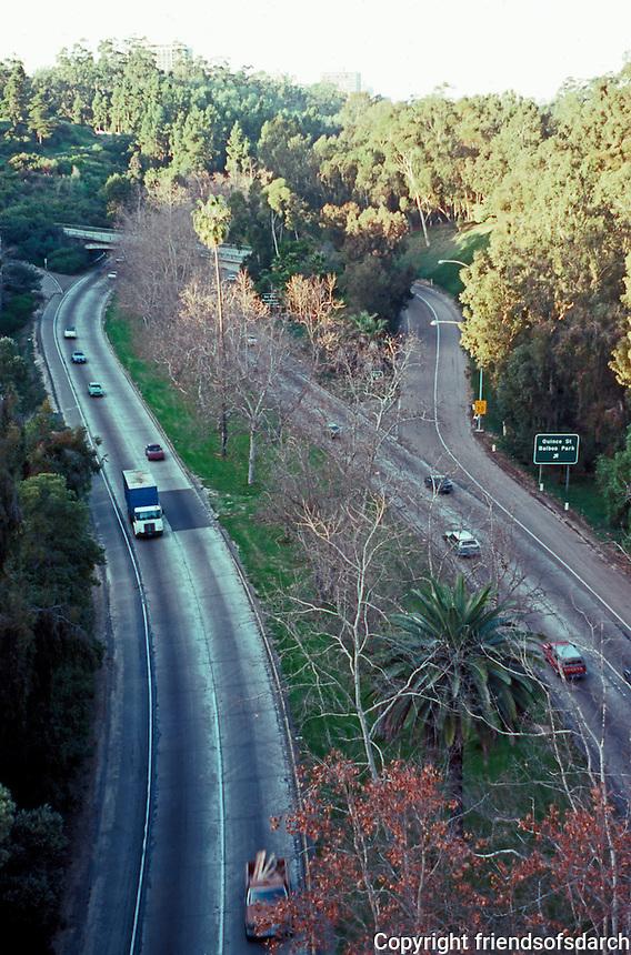 San Diego: Cabrillo  Freeway from Cabrillo Bridge.