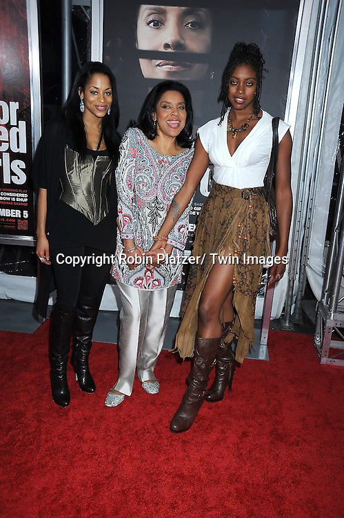 "Phylicia Rashad and niece and daughter attending The New York Special Screening.of ""For Colored Girls"" at The Ziegfeld Theatre on October 25, 2010 in New York City"