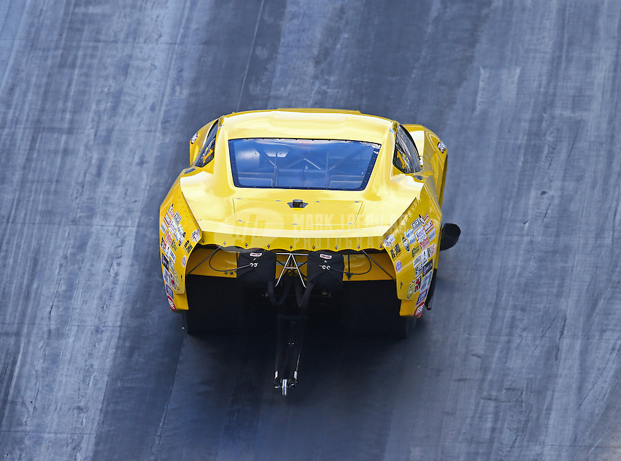 Jun 17, 2016; Bristol, TN, USA; NHRA pro mod driver Troy Coughlin during qualifying for the Thunder Valley Nationals at Bristol Dragway. Mandatory Credit: Mark J. Rebilas-USA TODAY Sports
