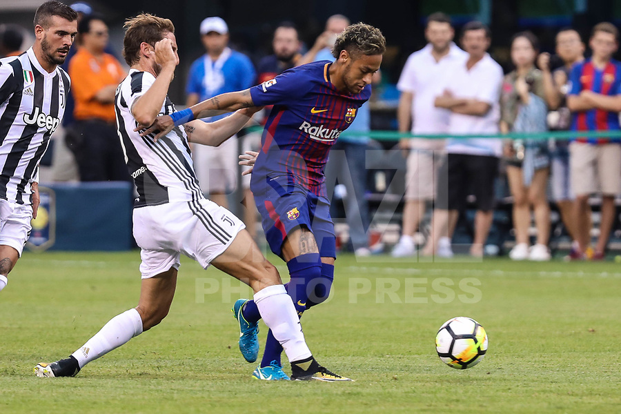 EAST RUTHERFORD, USA, 22.07.2017 - JUVENTUS-BARCELONA -Neymar  do Barcelona durante partida contra Juventus valido pela  International Champions Cup 2017 no MetLife Stadium na cidade de East Rutherford, New Jersey. (Foto: Vanessa Carvalho/Brazil Photo Press)