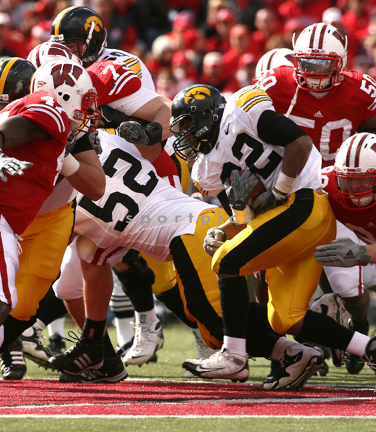 ADAM ROBINSON, of the Iowa Hawkeyes in action during the Hawkeyes game against the Wisconsin Badgers  in Madison, WI on October 17, 2009.  Iowa won 20-10..