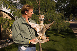 Bone artist Jeff Hammond, model and property released, Cedar City, Utah, UT, Fall Arts Festival, Southwest America, American Southwest, US, United States, Image ut418-18606, Photo copyright: Lee Foster, www.fostertravel.com, lee@fostertravel.com, 510-549-2202