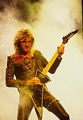 JUDAS PRIEST - Glenn Tipton - performing live on the Mercenaries of Metal Tour at the Odeon Hammersmith in London UK - 13 Jun 1988.  Photo credit: George Chin/IconicPix